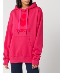 isabel marant étoile women's mansel hoodie - neon pink - fr 36/uk 8