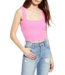 women's 4si3nna keva sweater tank, size large - pink