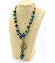 gioielli etnici collana di perle in ceramica con collane per donne