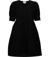 kale dress korte jurk zwart second female