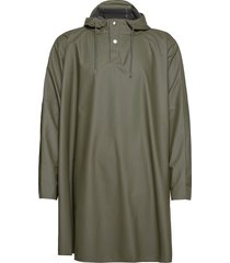 cape regenkleding groen rains