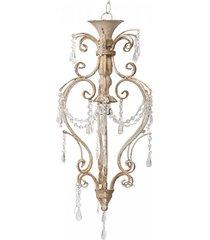 lampa wisząca postarzana z kryształkami 70 cm