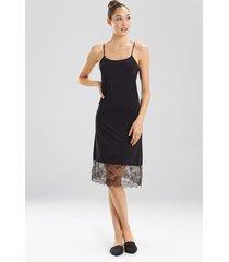 natori infinity lace trim slip bodysuit, women's, black, size xs natori