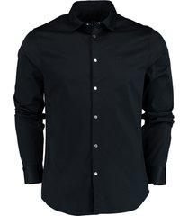 armani exchange overhemd donkerblauw sf 6hzc13.zn10z/1510