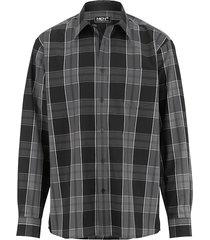 overhemd men plus zwart::grijs::wit