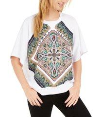 tommy hilfiger paisley raglan sweatshirt, created for macy's