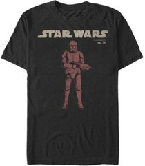 star wars men's episode ix distressed red trooper t-shirt