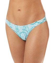 melissa odabash women's bacelona paisley bikini bottom - paisley - size 6