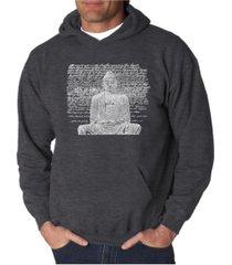 la pop art men's word art hooded sweatshirt - zen buddha
