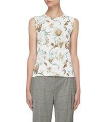 floral print knit tank top