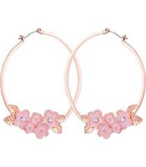 nanette nanette lepore flower hoop earring