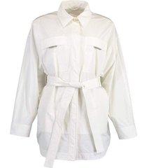 water resistant taffeta wrap jacket