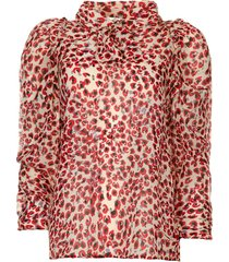 blouse met print jadyn  rood