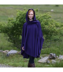 luxurious wool & cashmere irish cape purple