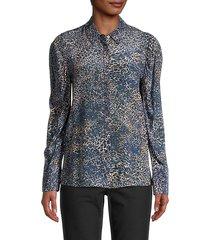 ori leopard-print silk blouse