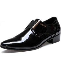 scarpe classiche da uomo a punta classica con elastico antiscivolo