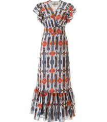 jessie western navajo print long dress