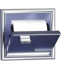 porta papel higiênico de embutir cromado