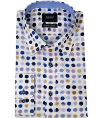 adam est 1916 adam overhemd casual under buttondown stippenprint