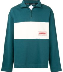 napa by martine rose embroidered logo pull-over - green
