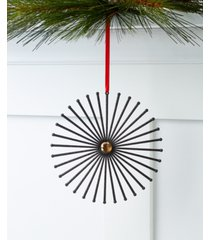 holiday lane black tie star burst ornament, created for macy's