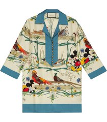 gucci x disney pajama shirt - neutrals