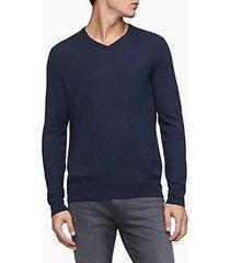 sweater cotton azul calvin klein
