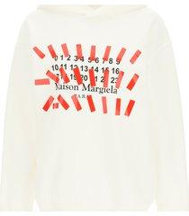 maison margiela tape print hoodie