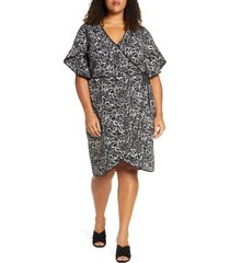 leota paige wrap dress, size 2x in autumn leaves at nordstrom
