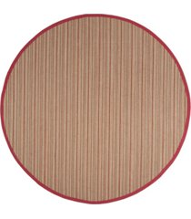 safavieh natural fiber brown and red 6' x 6' sisal weave round rug