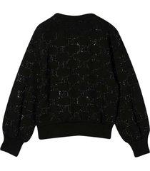 alberta ferretti black sweatshirt teen
