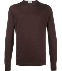 john smedley slim-fit sweatshirt - brown