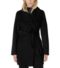 tahari ella double face belted wrap coat