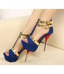 ps285 cutie stiletto sandals, double hasp,,size 35-40, black