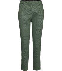 kylie 497 crop flash pantalon met rechte pijpen groen fiveunits