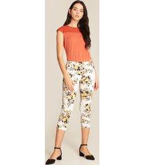 pantalón blanco-multicolor patprimo