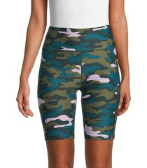 calvin klein women's high-rise print bike shorts - viper - size s