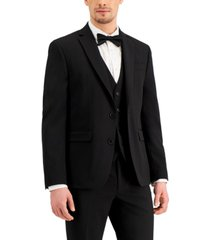 inc men's slim-fit black solid suit jacket, created for macy's