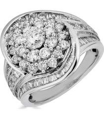 diamond cluster swirl ring (2 ct. t.w.) in 14k white gold