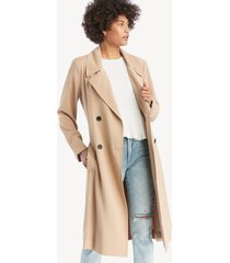 1. state women's soft twill belted trench coat classic camel size 8 from sole society