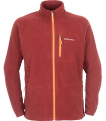 chaqueta  rojo y amarillo columbia fleece  fast trek full zip