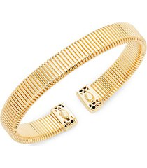 14k gold accordion cuff bracelet