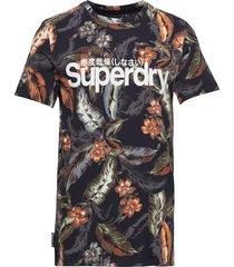 super 5's tee t-shirts short-sleeved multi/mönstrad superdry