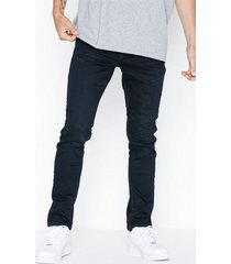 selected homme slhslim-leon 6155 blubl su-st jns w jeans svart