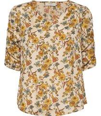 emmelie blouse blouses short-sleeved beige cream
