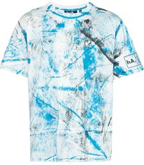 haculla hand paint t-shirt - blue