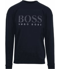 hugo boss heren sweatshirt - navy