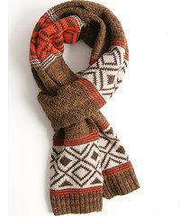 sciarpa di sciarpe in cotone di lana stile etnico donne inverno caldo confortevole morbido esterno tenere sciarpa calda