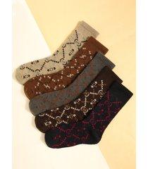 calcetines gruesos con gráfico liso