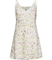 smilla strap dress aop nattlinne creme missya